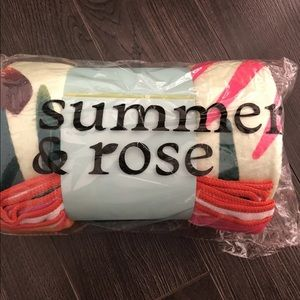 Summer & rose palm tree beach towel brand new